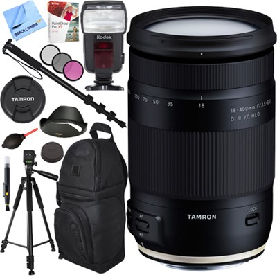 18-400mm f/3.5-6.3 Di II VC HLD Zoom Lens for Canon Mount Accessories Bundle