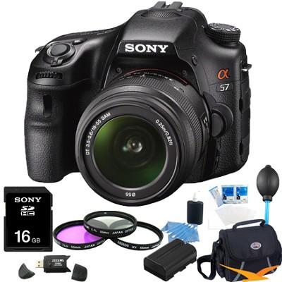 Alpha SLT-A57K 16.1 MP Digital SLR Kit w/ 18-55mm Lens Ultimate Bundle