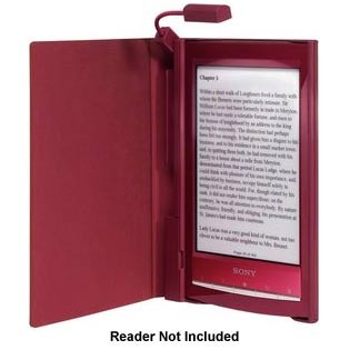 Cover with Light for eReader (PRS-T1) - Red