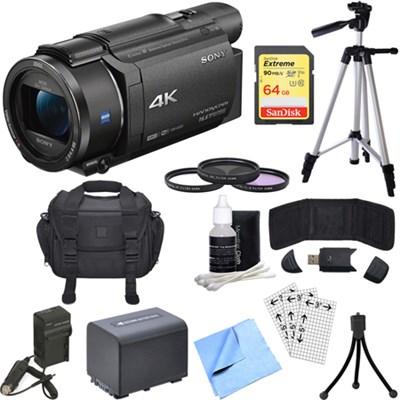 FDR-AX53/B 4K Handycam Camcorder with Exmor R CMOS Sensor Bundle
