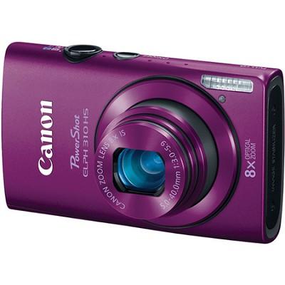 PowerShot ELPH 310 HS 12MP Purple Digital Camera w/ 8x Zoom, 1080p Video