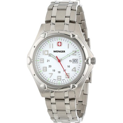 Men's Standard Issue XL Watch - White Dial/Stainless Steel Bracelet