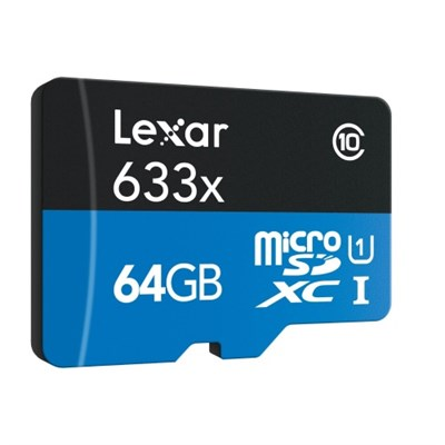 64GB microSDXC UHS-I 633X High-Performance Memory Card w/ USB 3.0 Card Reader