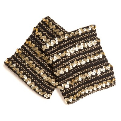 Black with Gold Sequin Combo - One Size