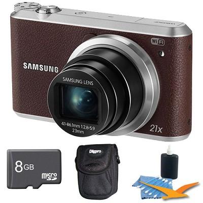 WB350 16.3MP 21x Opt Zoom Smart Camera Brown 8GB Kit