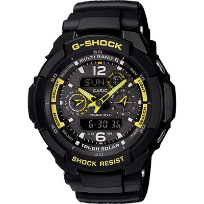 GW3500B-1A - G-Shock Aviator Analong Digital Black Resin Watch