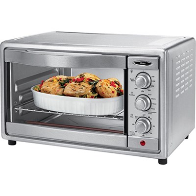 6SLICE OSTER CONVECTION TOASTER OVEN BRUSHED STAINLESS