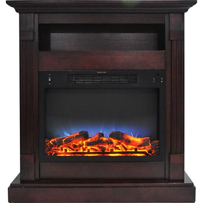 33.9 x10.4 x37  Sienna Fireplace Mantel with LED Insert