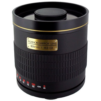 800mm f/8.0 Mirror Lens For Olympus and 4/3 DSLR Cameras (Black)