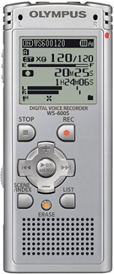WS-600S Digital Voice Recorder (Silver) REFURBISHED