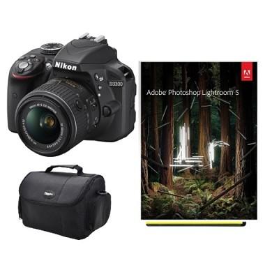 D3300 24.2 MP SLR with 18-55mm VR II Lens Refurbished Kit + Adobe LR5
