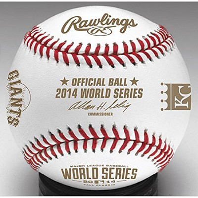 2014 World Series Dueling Baseball in Display Cube - WSBB14DL-R
