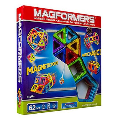 63070 Rainbow 62pc Magnetic Construction Set
