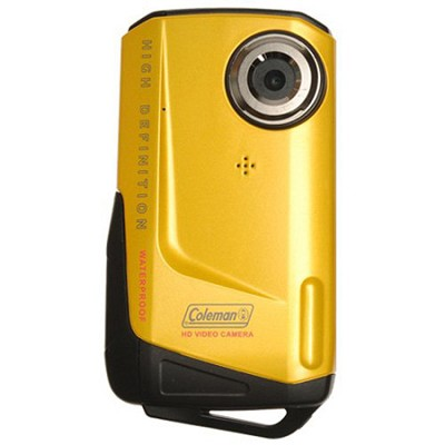 1080p HD 8MP 3X Zoom 2.0 Inch LCD Waterproof Pocket Video Camera - Yellow