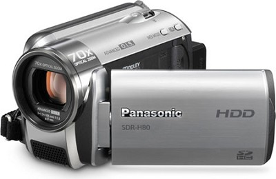 SDR-H80S Camcorder with 70X Zoom & 60GB HDD (Silver)