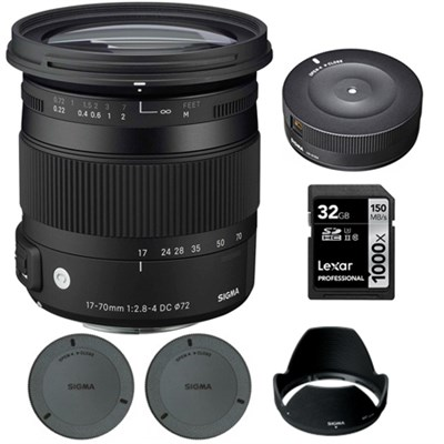 17-70mm F2.8-4 DC Macro OS HSM Lens for Nikon Digital Cameras w/ USB Dock