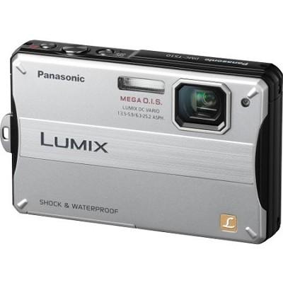 Lumix DMC-TS10S 14.1 MP Digital Camera (Silver) - OPEN BOX