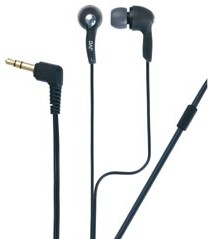 HAF-X55ZB High-Quality in-ear Headphones (Black) w/ rubber ear piece in 3-sizes
