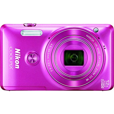 COOLPIX S6900 16MP 12x Zoom Full HD 1080p Digital Camera - Pink - OPEN BOX