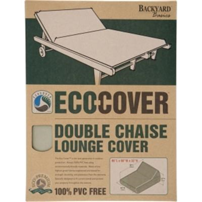 Backyard Basics Eco-Cover PVC Free Double Chaise Lounge Cover