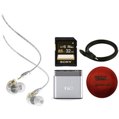 M6 Pro Noise-Isolating Musician's In-Ear Monitors (Clear) w/ FiiO A1 Amp Bundle