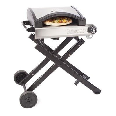 Alfrescamore Portable Outdoor Pizza Oven with Stand, Black - CPO-640