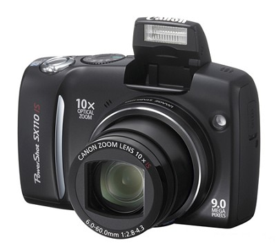 Powershot SX110 IS 9MP Digital Camera (Black)