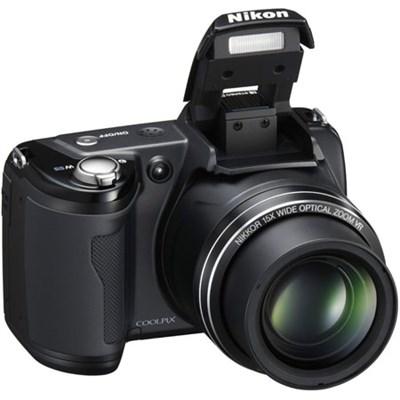 Coolpix L105 12MP Digital Camera w/ 15x Optical Zoom (Black) Factory Refurbished