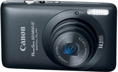 PowerShot SD1400 IS Digital 14.1 MP ELPH Digital Camera (Black)