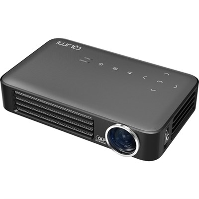 Qumi Q6 800 Lumen WXGA 720p HD LED Wireless Pocket Projector - Gray
