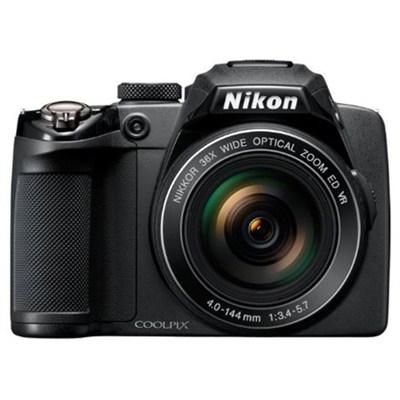 Coolpix P500 12MP Black Digital Camera w/ 36x Optical Zoom - Refurbished