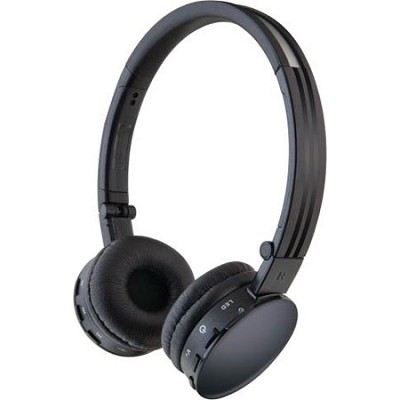 Bluetooth On Ear Headphones With Microphone - Black