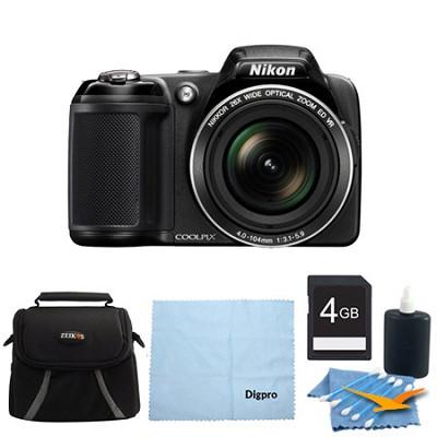 COOLPIX L810 16.1 MP 3.0-inch LCD Digital Camera 4GB Black Bundle