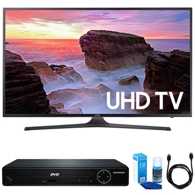 55` 4K UHD Smart LED TV (2017 Model) w/ HDMI DVD Player Bundle