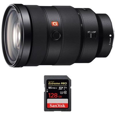 FE 24-70mm F2.8 GM Full Frame E-Mount Lens w/ Sandisk 128GB Memory Card