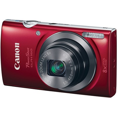 PowerShot ELPH 160 20MP 8x Opt Zoom HD Digital Camera - Red