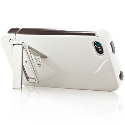 Chrome Flip Case for iPhone 4 (Silver)