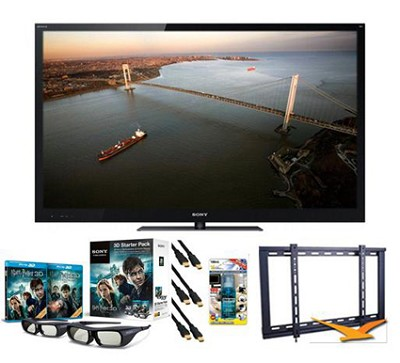 BRAVIA XBR-46HX929 46` 1080p 3D Local-Dimming LED HDTV Bundle