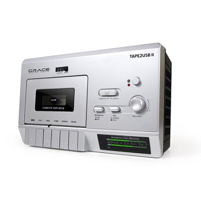Tape 2 USB II Cassette Player for USB to PC Recording w/Mic