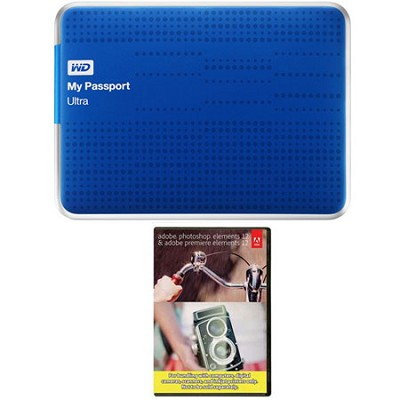 My Passport Ultra 2 TB USB 3.0 HDD Blue & Photoshop Premiere Elements 12