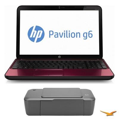 Pavilion 15.6` g6-2211nr Notebook PC and HP 1000 Printer Bundle