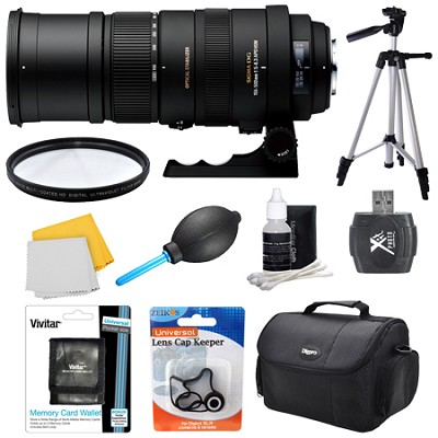 150-500mm F/5-6.3 APO DG OS HSM Autofocus Lens For Pentax - Lens Kit Bundle