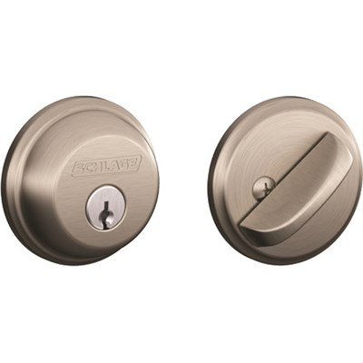 Mechanical Deadbolt, Satin Nickel - B60619 - OPEN BOX