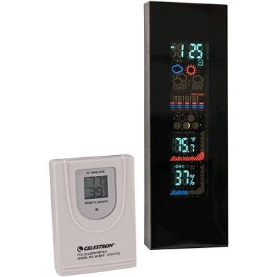 47011 4-Color VFD Weather Station (Black)