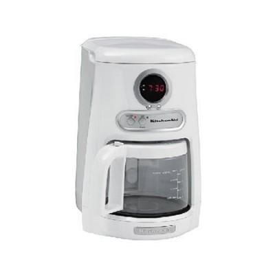 JavaStudio 10-Cup Programmable White Coffee Maker