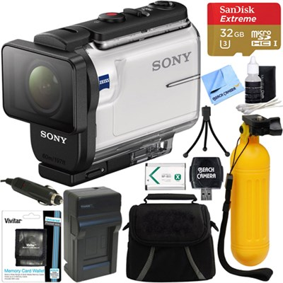 HDR-AS300 Action Cam + 64GB Memory Card & Accessory Bundle