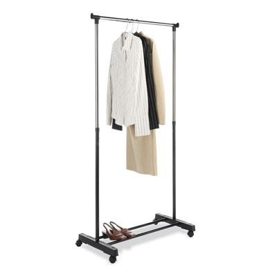Adjustable Garment Rack in Ebony Chrome - 6021-3079