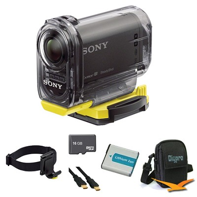 HDR-AS15/B Compact POV Wi-Fi Enabled Action Camera Head Mount Bundle