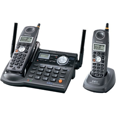 KX-TG5672B 5.8 GHz FHSS GigaRange Dual-Handset Phone System with Answering Syste