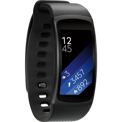 SM-R3600DANXAR Gear Fit2 Smartwatch with Small Band - Black - OPEN BOX